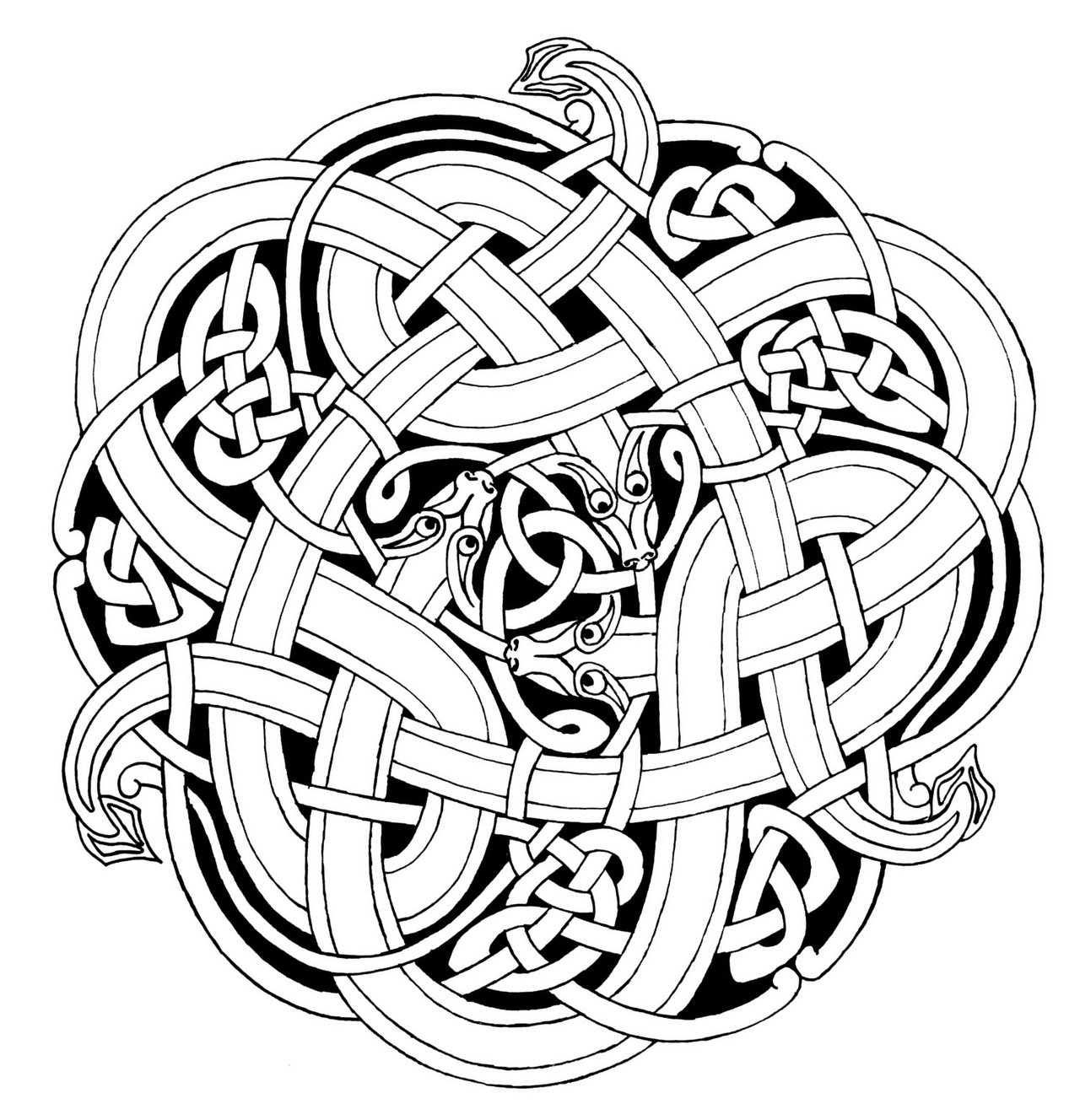 Drawn snake celtic knot Celtic @deviantART on Snakes com
