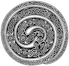 Drawn snake celtic knot Celtic the art? this norse