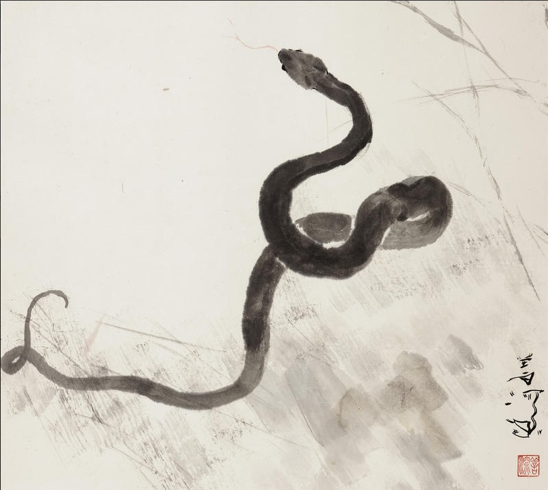Drawn snake chinese snake Paper) ferrebeekeeper on the Year