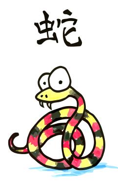 Drawn snake chinese snake Snake the snake of zodiac