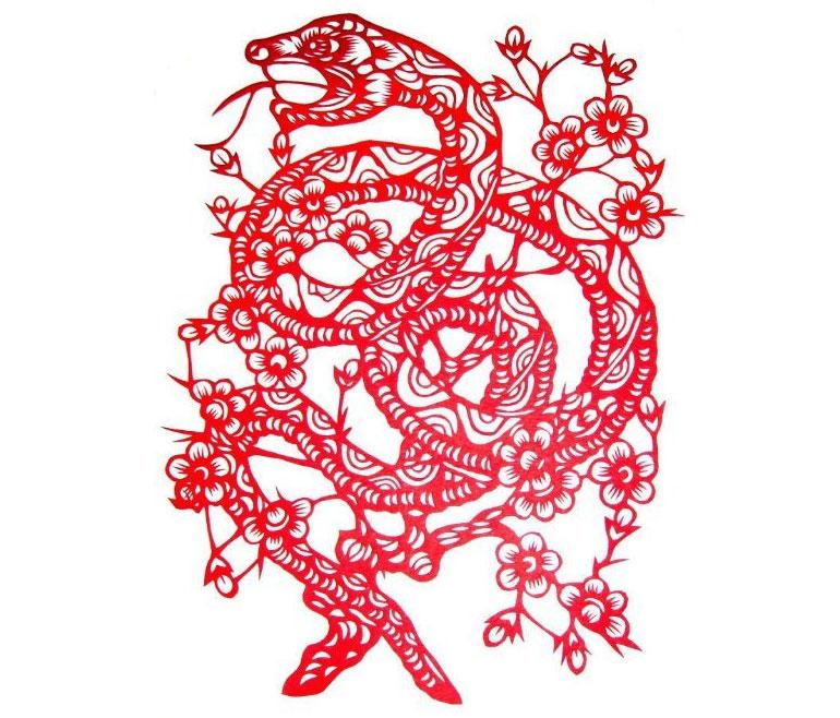 Drawn snake chinese snake Snake 1977 : 1965 Chinese