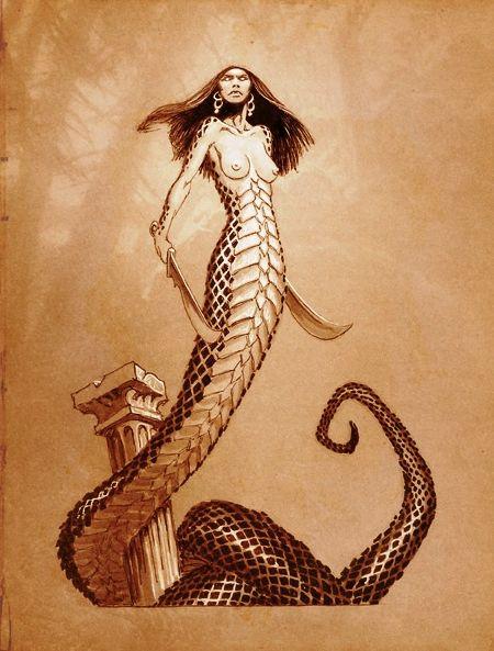 Drawn snake demon Snake best Greek and Half