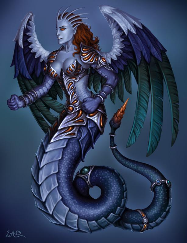 Drawn snake demon Candra by woman @deviantART com