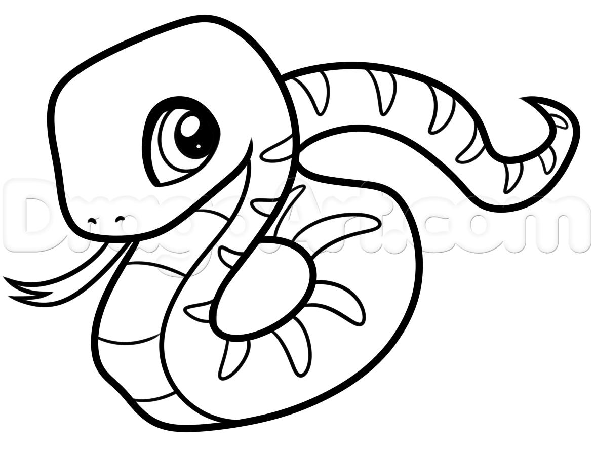 Drawn snake easy draw Draw Drawing Added Beginners draw