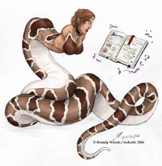 Drawn snake female BrandyWoods BrandyWoods Snake Commission by