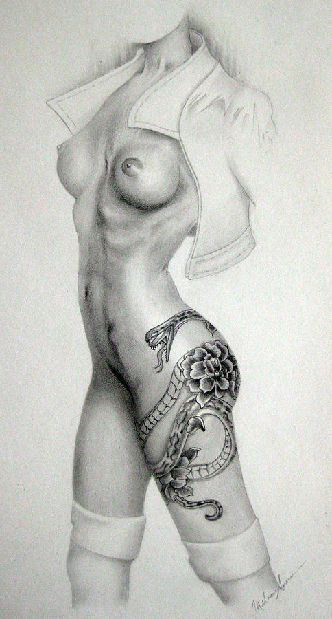 Drawn snake female Snake Drawing Year by The