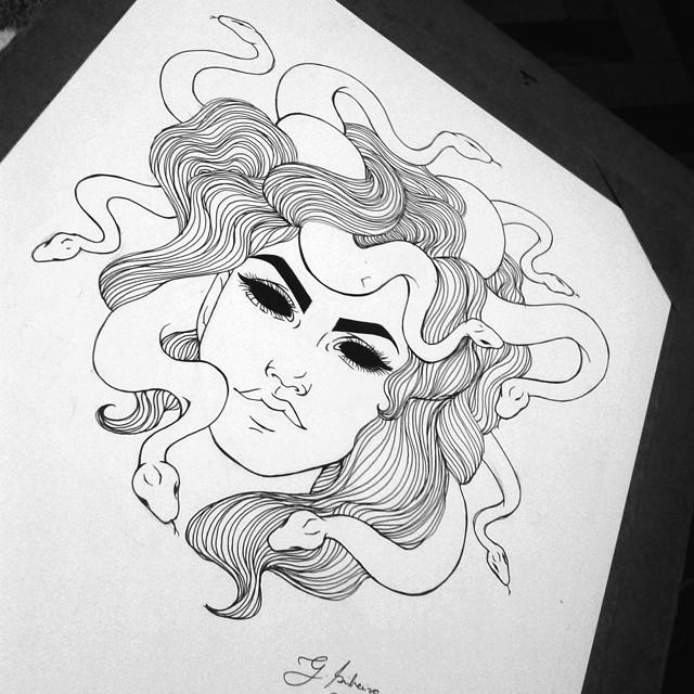 Drawn snake female On Instagram art #ilustração Snake!