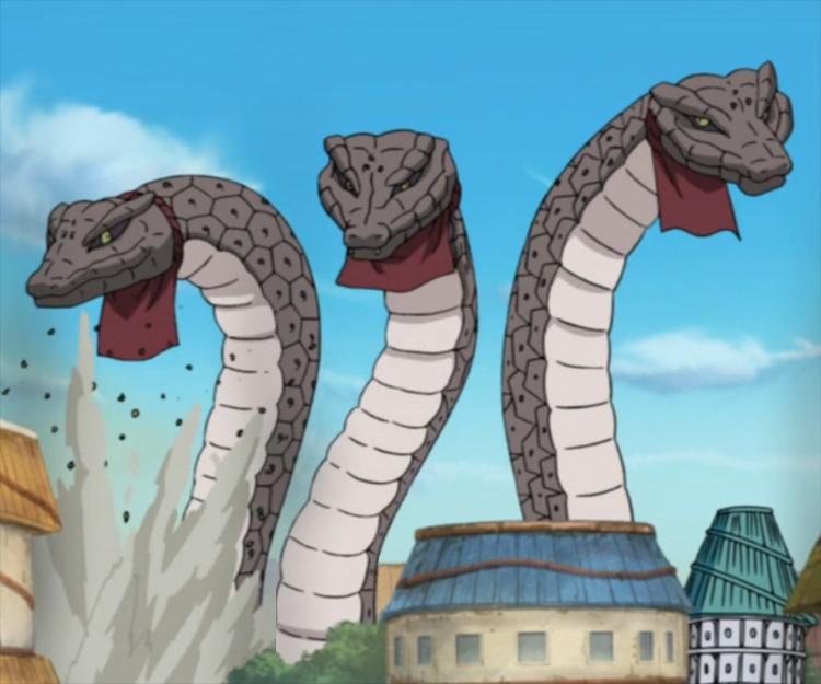 Drawn snake giant snake Wikia Giant Three Snakes Three