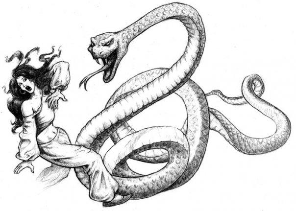 Drawn snake giant snake Giant LuigiAprea snake Giant by