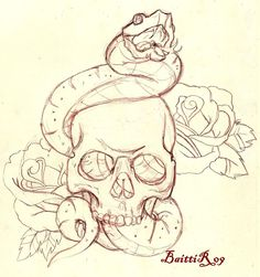 Drawn snake hand drawn Baitti tattoo detailed DrawingsTattoo drawn