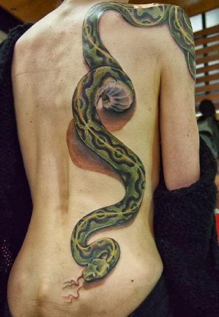 Drawn snake long snake 3D ★  Pinterest ★