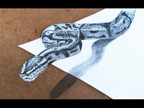 Drawn 3d art beginner Snake by Drawings : by