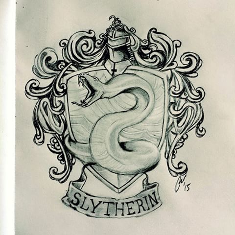 Drawn snake slytherin Potter #magic videos #harrypotter Harry