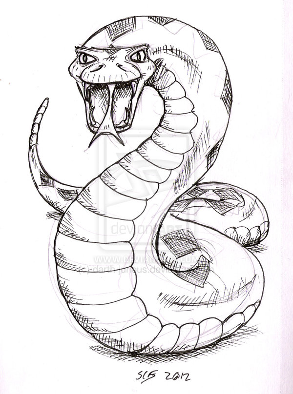 Drawn snake slytherin Image Page Drawing Coloring Sketch
