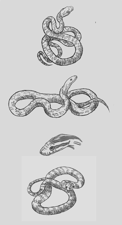 Drawn snake small snake Ideas paintingsss ideas Snake tattoo