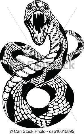 Drawn snake vector art Clipart art vector attacke Vector