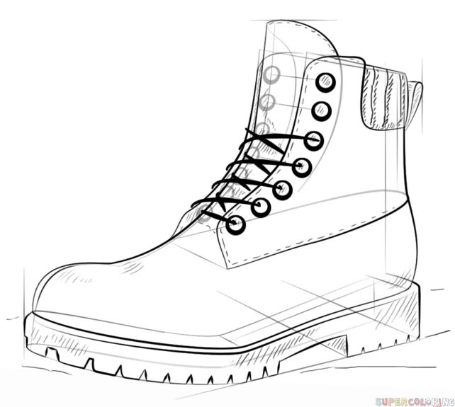 Drawn shoe drawing Kids ideas How Best draw