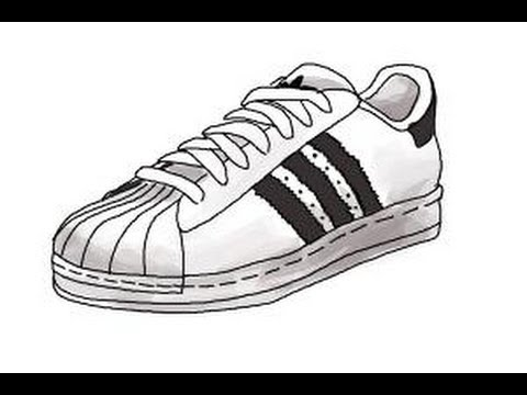 Drawn shoe adidas shoe Draw sneakers to sneakers How