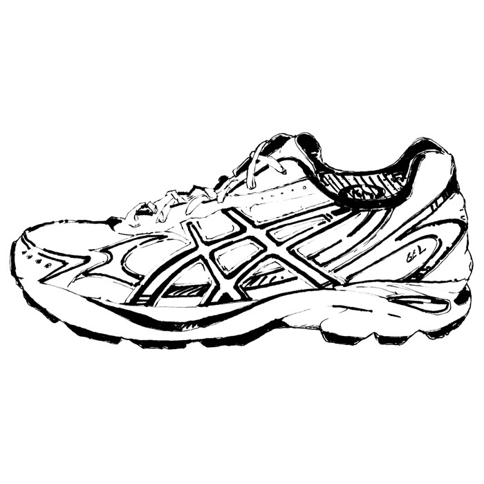 Drawn sneakers black and white Art Pictures  Shoes Picture