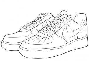 Drawn sneakers black and white Draw Air Nike Step how