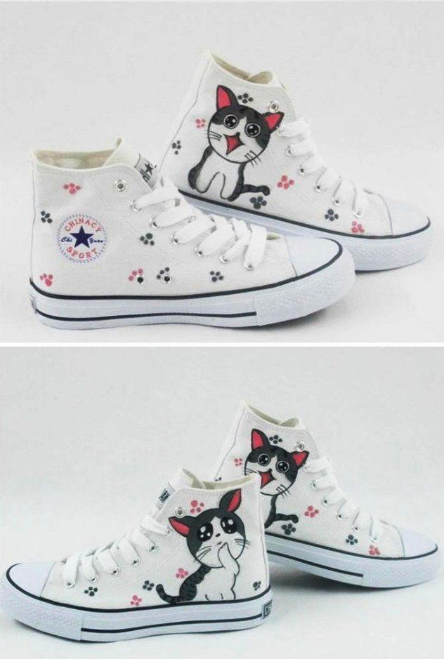 Drawn sneakers cute shoe Best shoes canvas on converse