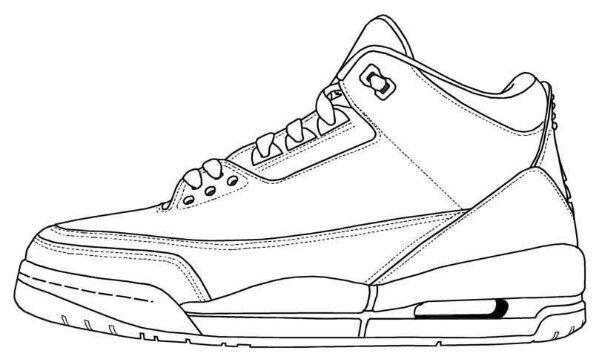 Drawn sneakers jordan 3 Air 3 outline jordan 2014
