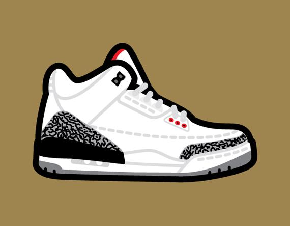Drawn sneakers jordan 3 Air Art Jordan Robb SneakerNews