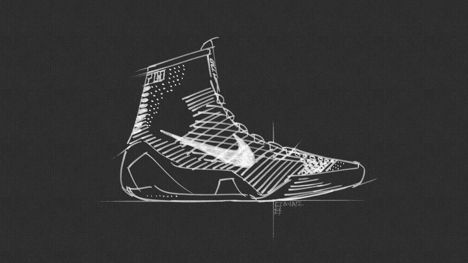 Drawn sneakers kobe 9 Footwear KOBE Image  Redefines