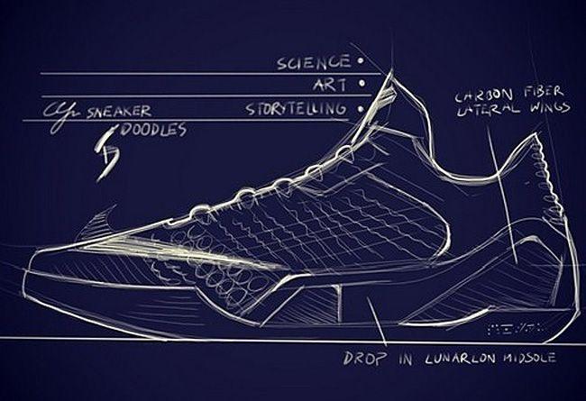 Drawn sneakers kobe 9  Pinterest Air Nike Basketball