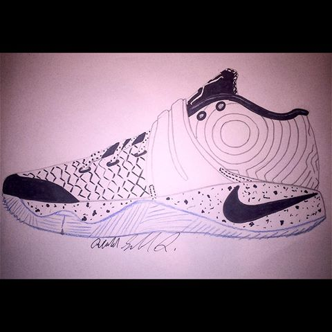 Drawn sneakers kyrie 2 Kyrie kyrie drawing drawing 3