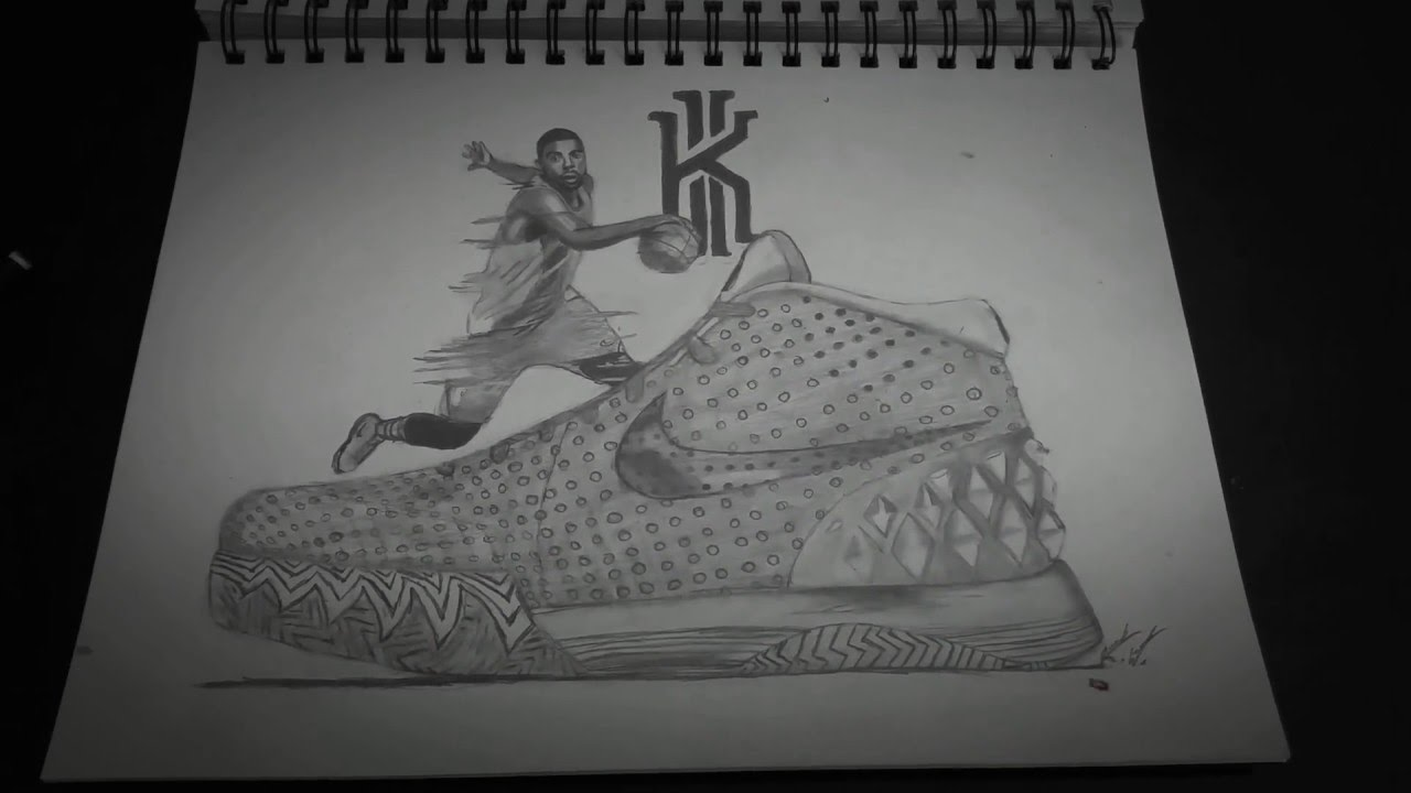 Drawn sneakers kyrie 2 Drawing Drawing Kyrie Kyrie YouTube