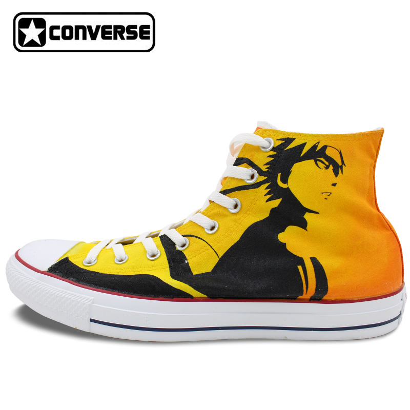 Drawn sneakers naruto Men Anime High All Hand