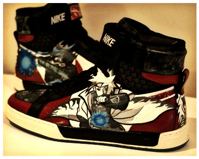 Drawn sneakers naruto AyinX Custom Fan Nike Fan