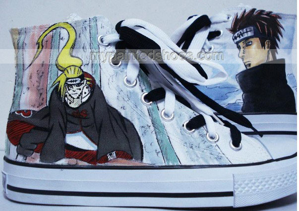Drawn sneakers naruto Hand naruto painted custom Custom