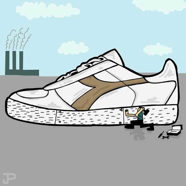 Drawn sneakers trainer By Street Parkin Takeover