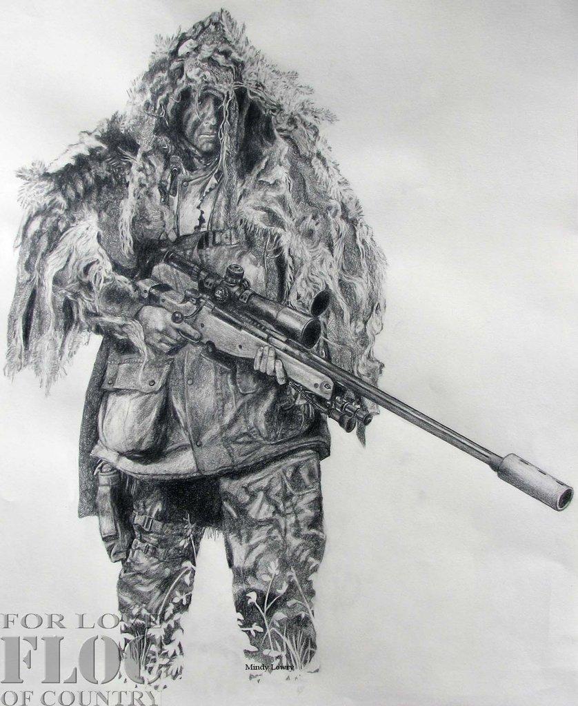 Drawn sniper #15