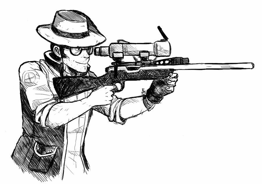 Drawn sniper #14