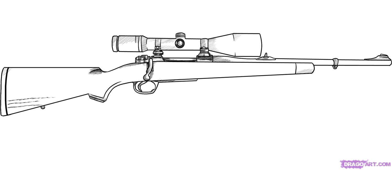 Drawn pistol sniper gun Printable Pagesjpg Coloring gun page