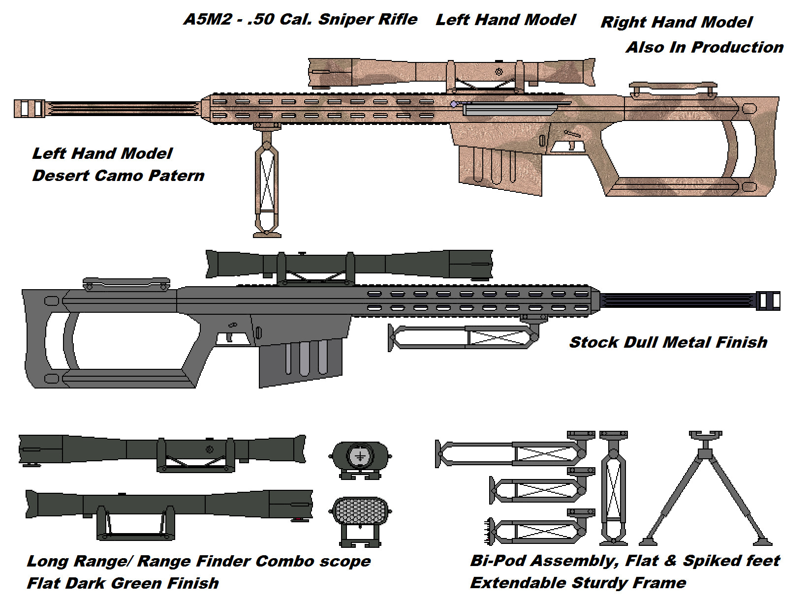 Drawn snipers 50 cal Onni 50 on Onni Sniper