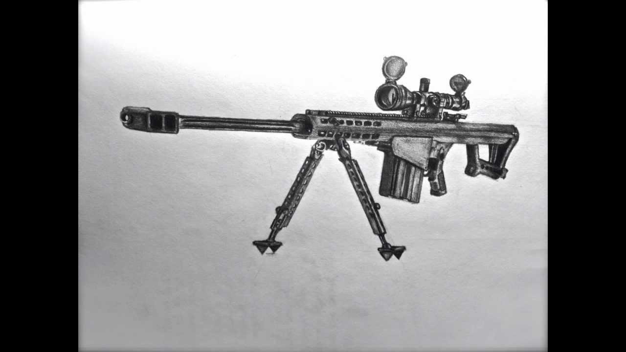 Drawn snipers 50 cal Cal ╦╤── Drawing ︻╦╤── 50