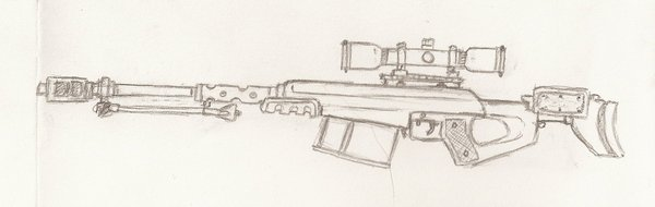 Drawn snipers 50 cal Warman707 55 DeviantArt warman707 sniper