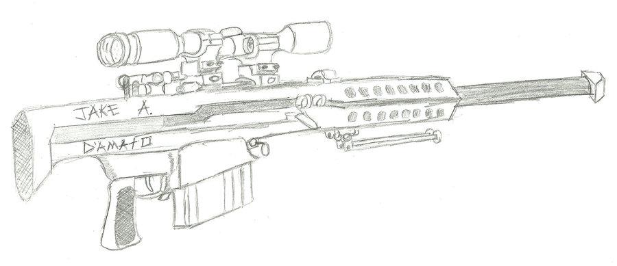 Drawn snipers 50 cal DeviantArt sniper Barrett rifle Barrett