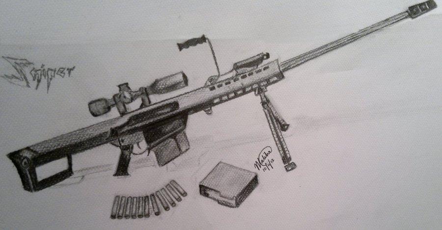 Drawn snipers 50 cal M3OW16 50 DeviantArt M3OW16 Sniper