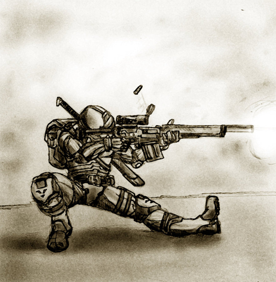 Drawn snipers anime boy Apocalyptic Guy by misteryellow Sniper