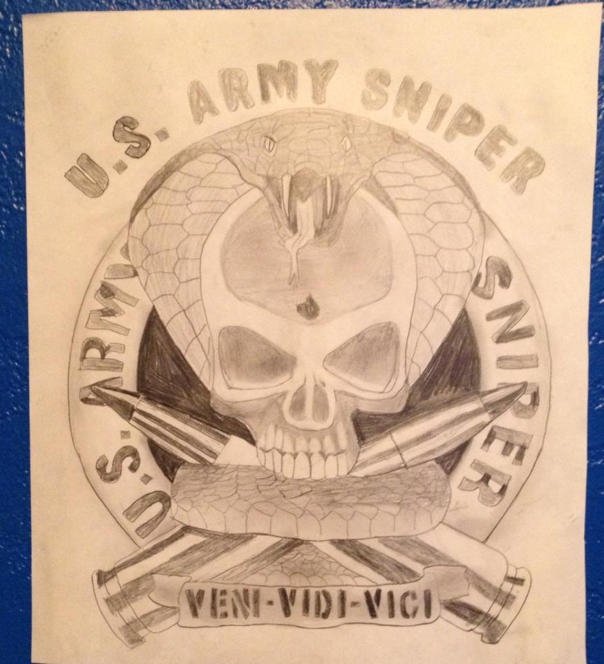 Drawn snipers army logo Wolfbane14 Drawing Drawing DeviantArt Wolfbane14