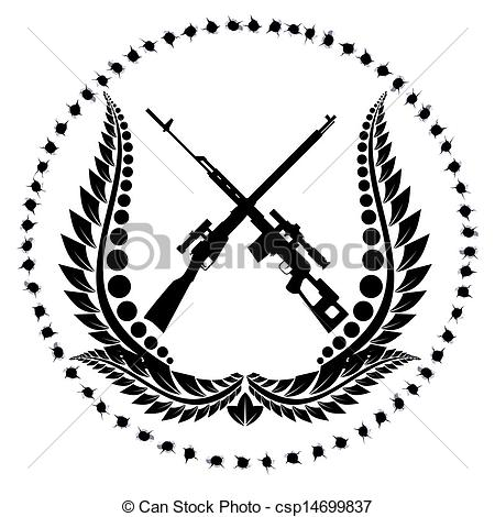 Drawn snipers army logo 1 rifles Sniper sniper with
