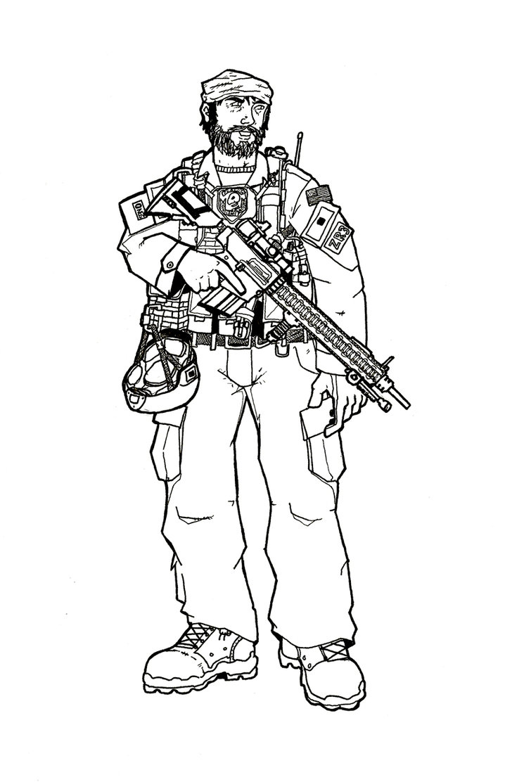 Drawn snipers army person Army by inks SF SF