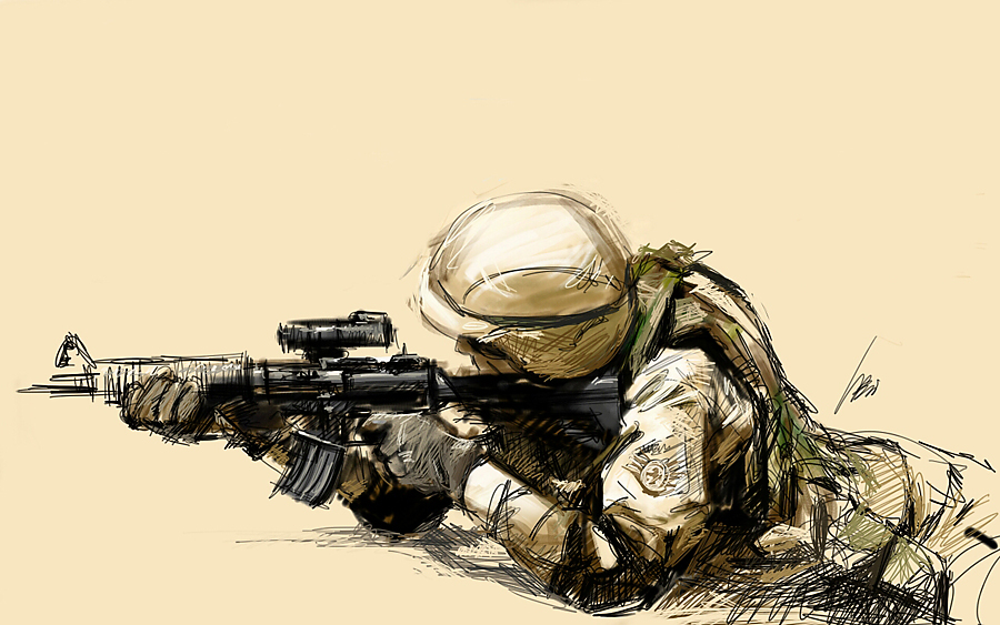 Drawn snipers army person Ilustration con Buscar Pinterest soldier