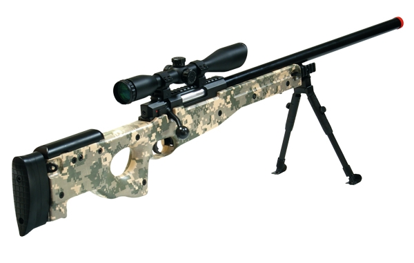 Drawn snipers bolt action rifle Digital AccuShot Airsoft Bolt Action