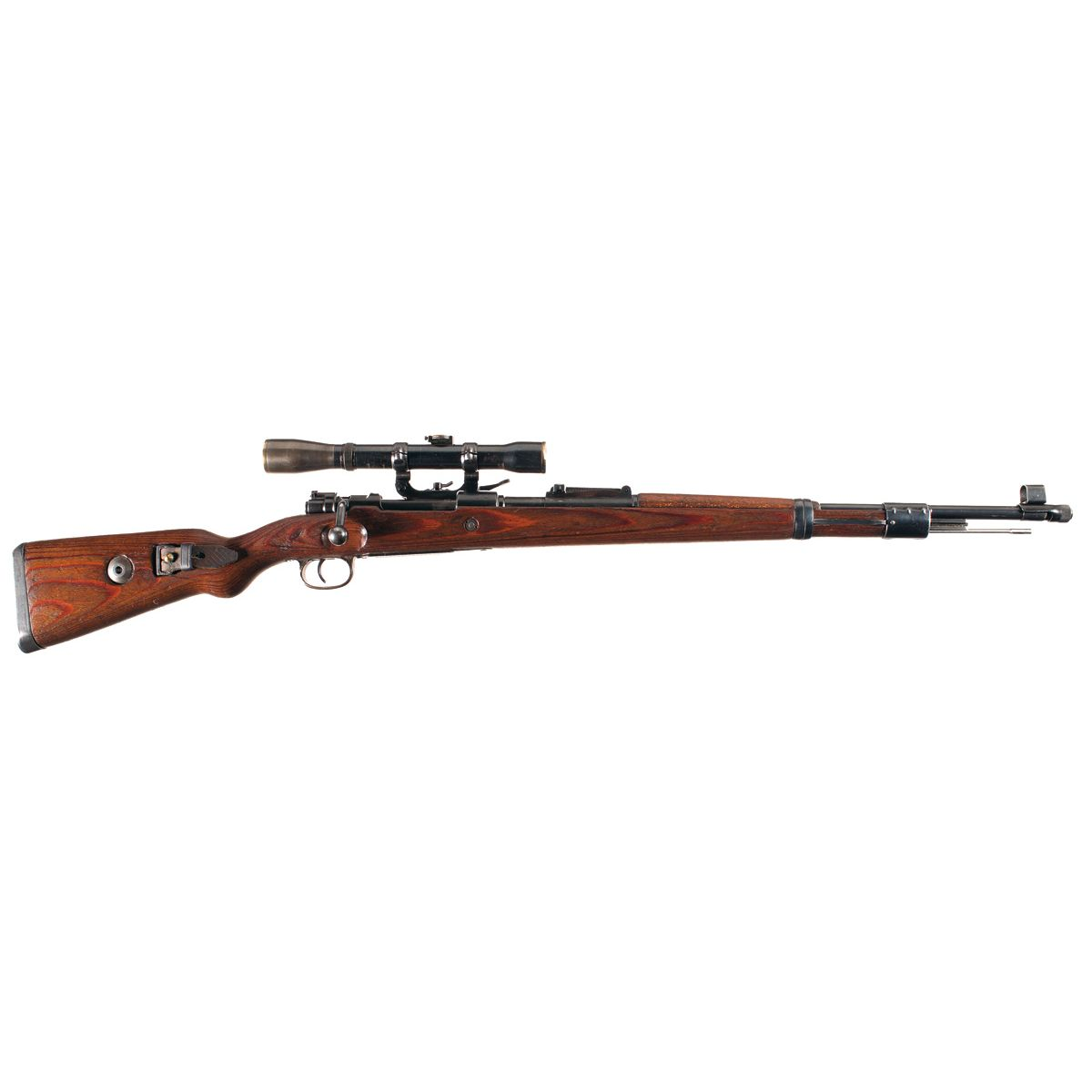 Drawn snipers bolt action rifle Sniper Code K98 Mauser 44